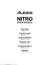 ALESIS NITRO USER MANUAL Pdf Download