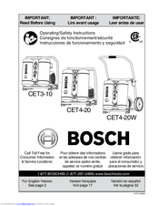 Bosch CET3-10 Operating/Safety Instructions Manual