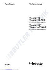Webasto thermo 90 st repair manual.