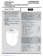 Hitachi SF-P90P User Manual