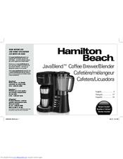 Hamilton Beach Javablend 40918 Manuals