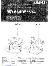 juki mo 634de instruction manual pdf download rh manualslib com juki serger mo-2516 manual juki serger manual download
