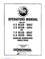 Westerbeke 5.0 BCGB - 50Hz Manuals on