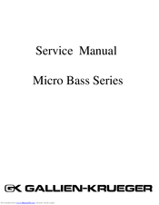 GALLIEN-KRUEGER MB150S SERVICE MANUAL Pdf Download.