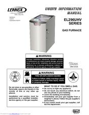 lennox el296uhv series manuals rh manualslib com lennox elite 90 gas furnace manual lennox elite furnace specs