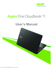 acer aspire one cloudbook 14 manuals rh manualslib com acer aspire one d255 manual español Acer Aspire 1 Netbook Manual