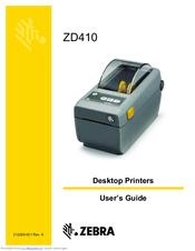 ZEBRA ZD410 USER MANUAL Pdf Download