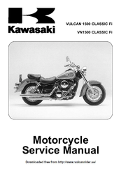 kawasaki vulcan 1500 classic fi service manual pdf download rh manualslib com 1999 kawasaki vulcan 1500 owners manual 1999 kawasaki vulcan 1500 owners manual