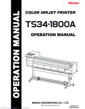 mimaki ts34 1800a manuals rh manualslib com Parts Manual Owner's Manual