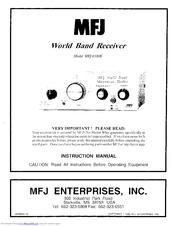 Mfj 8100K Manuals