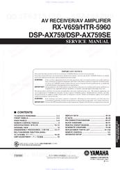 yamaha rx v659 service manual pdf download rh manualslib com Yamaha RX- V850 Yamaha Ypao Review
