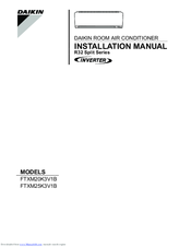 daikin r 410a manuals rh manualslib com daikin installation manual r410a split series Daikin Air Conditioning Manual