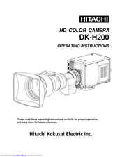 Hitachi DK-H200 Operating Instructions Manual