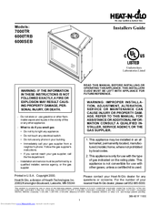 Heat N Glo 6000trb Manuals Manualslib