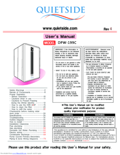 Quietside DPW-199C Manuals