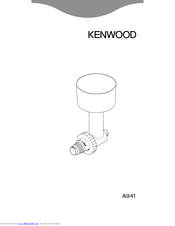 Kenwood A941 Manual