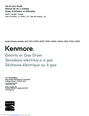 Kenmore 62332 Use & Care Manual