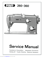 Pfaff Automatic 260 Service Manual