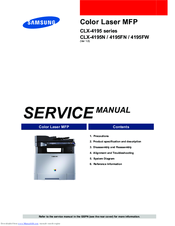 samsung clx 4195n service manual pdf download rh manualslib com samsung clx 4195 service manual samsung clx 4195 service manual
