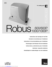 Nice Robus 600 Manuals