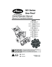 ariens 921013 deluxe 30 manuals rh manualslib com ariens snow thrower parts manual ariens snow thrower parts manual