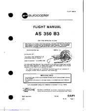 eurocopter as 350 83 manuals rh manualslib com Eurocopter EC130 Eurocopter AS350 Crash