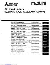 Mitsubishi mr slim pea mxz 8a140va air conditioner installation manual.