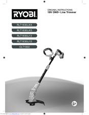 ryobi rlt1830lix4 manuals. Black Bedroom Furniture Sets. Home Design Ideas