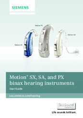 siemens motion px manuals rh manualslib com Siemens Pure Hearing Instruments Cases Daryl Siemens Hearing Instruments