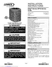lennox elite series manuals rh manualslib com lennox furnace owners manual owner's manual lennox mini split