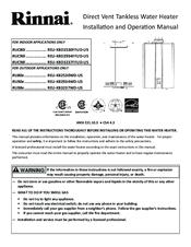 rinnai water heater installation manual