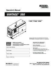 LINCOLN ELECTRIC VANTAGE 580 11657 OPERATOR'S MANUAL Pdf Download    ManualsLibManualsLib