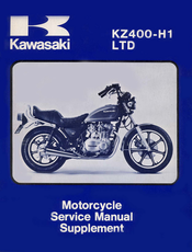 Kawasaki KZ400-H1 LTD Service Manual Supplement