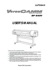 roland versacamm sp 540v manuals rh manualslib com Used Roland 540 Used Roland 540