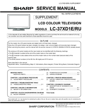 Sharp Lc 37xd1e Manuals Manualslib