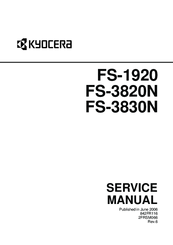 KYOCERA FS-1920 SERVICE MANUAL Pdf Download
