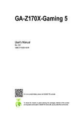 gigabyte ga z170x gaming 5 manuals rh manualslib com gigabyte motherboard user manual gigabyte z370p d3 user manual