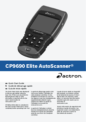 actron cp9690 elite autoscanner manuals rh manualslib com Actron Scanners for Chrysler Adapters Actron PocketScan