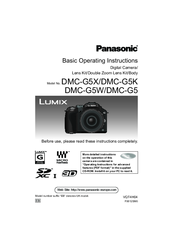 Panasonic Lumix DMC-G5X Basic Operating Instructions Manual