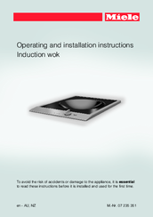Miele CS 1223 I Operating And Installation Instructions