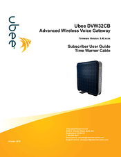 Ubee DVW32CB Subscriber User Manual