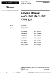 whirlpool awm 827 manuals rh manualslib com Operating Manual Whirlpool Tub Whirlpool Dryer Manual
