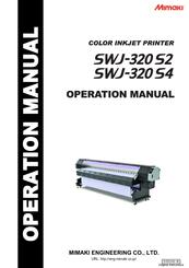 MIMAKI SWJ-320 S2 OPERATION MANUAL Pdf Download