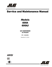 jlg 600aj manuals jlg 600aj service and maintenance manual