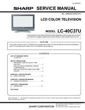 sharp lc 40c37u service manual pdf download rh manualslib com Sharp ManualsOnline Sharp User Manual