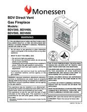 monessen hearth direct vent gas fireplace bdv300 manuals rh manualslib com Indoor Gas Fireplaces Propane Gas Fireplace Inserts
