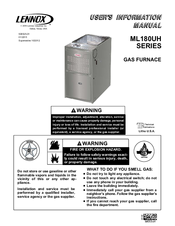 lennox ml180uh. lennox ml180uh series user\u0027s information manual ml180uh m
