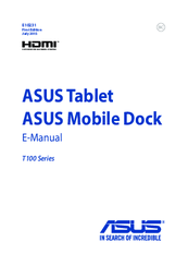 Asus T100 Series Instruction Manual