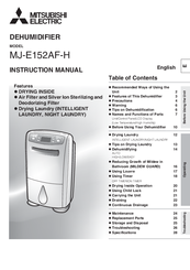 Mitsubishi Electric MJ-E152AF-H Instruction Manual