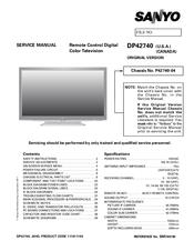 sanyo dp42740 42 class 720p plasma manuals rh manualslib com Sanyo DP26640 Sanyo DP42740 TV Buttons